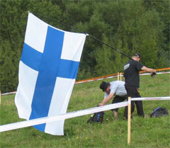 Finnish Fan With Flag